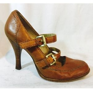 Michael Kors High Heel Shoes Brown Womans Size 7M